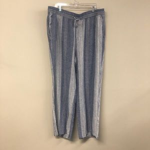 Old Navy Blue/White Striped Pants Casual XL